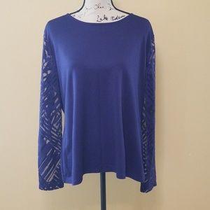 Cato blouse sz xl euc sheer sleeves
